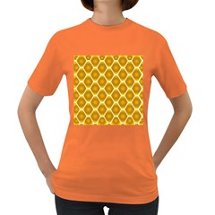 Snake Abstract Background Pattern Women s Dark T Shirt