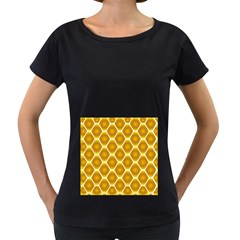 Snake Abstract Background Pattern Women s Loose-Fit T-Shirt (Black)