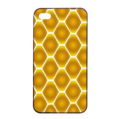 Snake Abstract Background Pattern Apple iPhone 4/4s Seamless Case (Black)