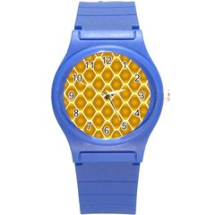 Snake Abstract Background Pattern Round Plastic Sport Watch (S)