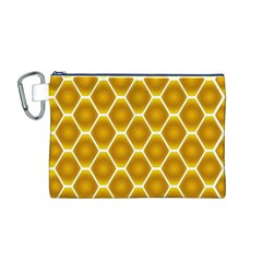 Snake Abstract Background Pattern Canvas Cosmetic Bag (M)