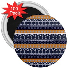 Seamless Abstract Elegant Background Pattern 3  Magnets (100 Pack)