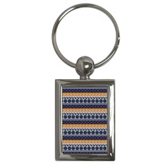 Seamless Abstract Elegant Background Pattern Key Chains (Rectangle)