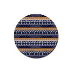 Seamless Abstract Elegant Background Pattern Rubber Round Coaster (4 pack)