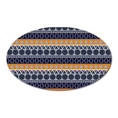 Seamless Abstract Elegant Background Pattern Oval Magnet