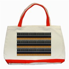 Seamless Abstract Elegant Background Pattern Classic Tote Bag (Red)