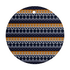 Seamless Abstract Elegant Background Pattern Round Ornament (Two Sides)