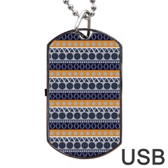 Seamless Abstract Elegant Background Pattern Dog Tag USB Flash (Two Sides)