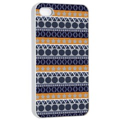 Seamless Abstract Elegant Background Pattern Apple iPhone 4/4s Seamless Case (White)