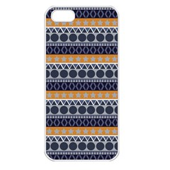 Seamless Abstract Elegant Background Pattern Apple iPhone 5 Seamless Case (White)