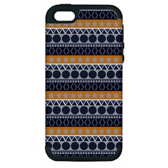Seamless Abstract Elegant Background Pattern Apple iPhone 5 Hardshell Case (PC+Silicone)