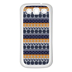 Seamless Abstract Elegant Background Pattern Samsung Galaxy S3 Back Case (white)