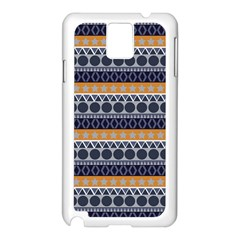 Seamless Abstract Elegant Background Pattern Samsung Galaxy Note 3 N9005 Case (White)