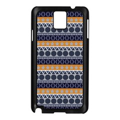 Seamless Abstract Elegant Background Pattern Samsung Galaxy Note 3 N9005 Case (Black)