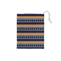 Seamless Abstract Elegant Background Pattern Drawstring Pouches (small)