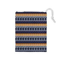 Seamless Abstract Elegant Background Pattern Drawstring Pouches (Medium)