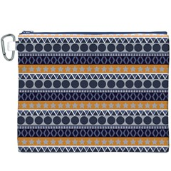 Seamless Abstract Elegant Background Pattern Canvas Cosmetic Bag (XXXL)