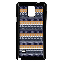 Seamless Abstract Elegant Background Pattern Samsung Galaxy Note 4 Case (Black)