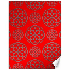 Geometric Circles Seamless Pattern On Red Background Canvas 12  x 16