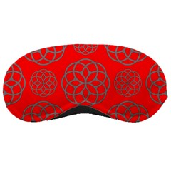 Geometric Circles Seamless Pattern On Red Background Sleeping Masks
