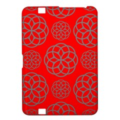 Geometric Circles Seamless Pattern On Red Background Kindle Fire Hd 8 9