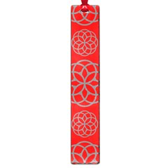 Geometric Circles Seamless Pattern On Red Background Large Book Marks