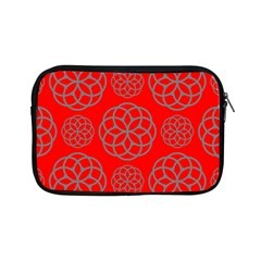 Geometric Circles Seamless Pattern On Red Background Apple iPad Mini Zipper Cases