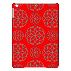 Geometric Circles Seamless Pattern On Red Background iPad Air Hardshell Cases