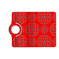 Geometric Circles Seamless Pattern On Red Background Kindle Fire HD (2013) Flip 360 Case