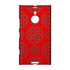 Geometric Circles Seamless Pattern On Red Background Nokia Lumia 1520