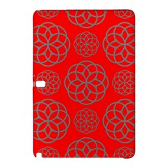 Geometric Circles Seamless Pattern On Red Background Samsung Galaxy Tab Pro 12.2 Hardshell Case