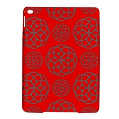 Geometric Circles Seamless Pattern On Red Background iPad Air 2 Hardshell Cases