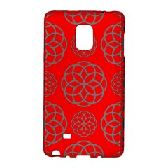 Geometric Circles Seamless Pattern On Red Background Galaxy Note Edge