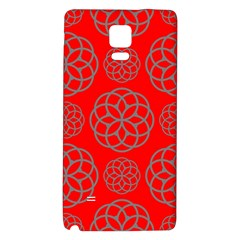 Geometric Circles Seamless Pattern On Red Background Galaxy Note 4 Back Case