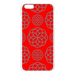 Geometric Circles Seamless Pattern On Red Background Apple Seamless iPhone 6 Plus/6S Plus Case (Transparent)