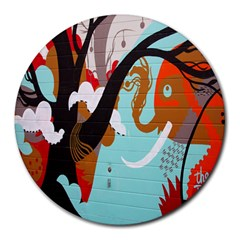 Colorful Graffiti In Amsterdam Round Mousepads