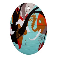 Colorful Graffiti In Amsterdam Ornament (Oval)