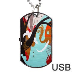 Colorful Graffiti In Amsterdam Dog Tag Usb Flash (two Sides)