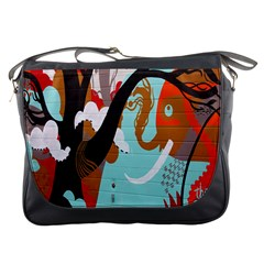 Colorful Graffiti In Amsterdam Messenger Bags