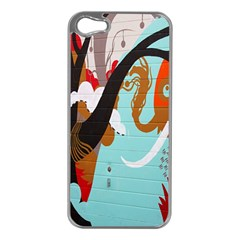 Colorful Graffiti In Amsterdam Apple iPhone 5 Case (Silver)