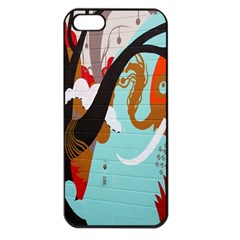 Colorful Graffiti In Amsterdam Apple iPhone 5 Seamless Case (Black)
