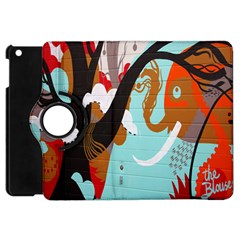 Colorful Graffiti In Amsterdam Apple iPad Mini Flip 360 Case
