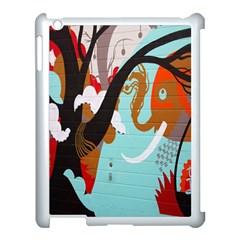 Colorful Graffiti In Amsterdam Apple iPad 3/4 Case (White)