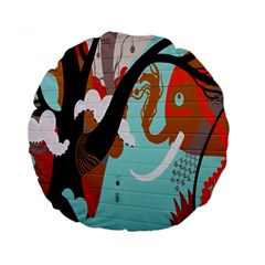 Colorful Graffiti In Amsterdam Standard 15  Premium Round Cushions