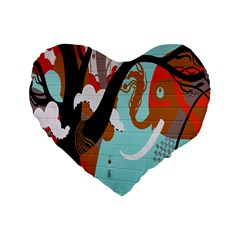 Colorful Graffiti In Amsterdam Standard 16  Premium Heart Shape Cushions