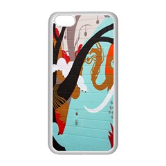 Colorful Graffiti In Amsterdam Apple iPhone 5C Seamless Case (White)