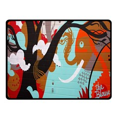 Colorful Graffiti In Amsterdam Double Sided Fleece Blanket (Small)
