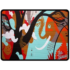 Colorful Graffiti In Amsterdam Double Sided Fleece Blanket (Large)