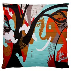 Colorful Graffiti In Amsterdam Large Flano Cushion Case (two Sides)