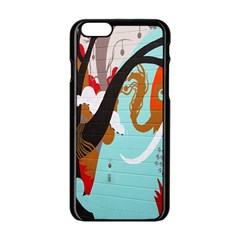 Colorful Graffiti In Amsterdam Apple iPhone 6/6S Black Enamel Case